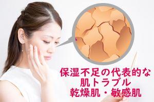 保湿不足の代表的な肌トラブル乾燥肌・敏感肌