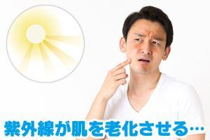紫外線が肌を老化させる…