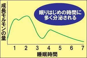 睡眠と成長ホルモンの分泌