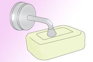 「スポンジタイプ」の石鹸置き