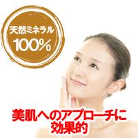 天然ミネラル100% 美肌へのアプローチに効果的