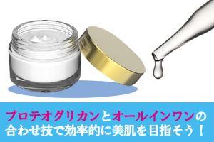 トータルで美肌を目指すのであれば、プロテオグリカン配合のオールインワン化粧品が断然おすすめ。