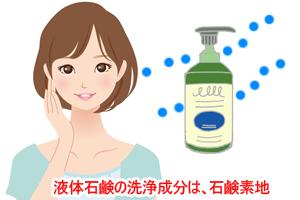 液体石鹸の洗浄成分は、石鹸素地