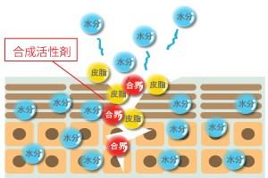 合成界面活性剤が肌に与える影響(イメージ図)