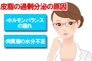 皮脂の過剰分泌の原因