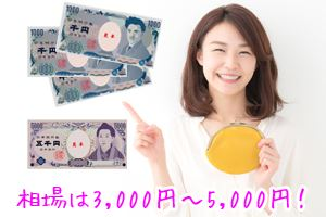 相場は3,000円~5,000円!