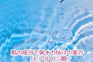 肌の成分で保水力No1の実力「ヒアルロン酸」