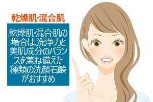 乾燥肌・混合肌におすすめの洗顔石鹸