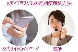 メディプラスゲルの定期便解約方法・電話・公式サイトのマイページ